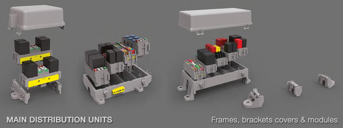 MTA MAIN DISTRIBUTION UNITS - Frames, brackets covers & modules